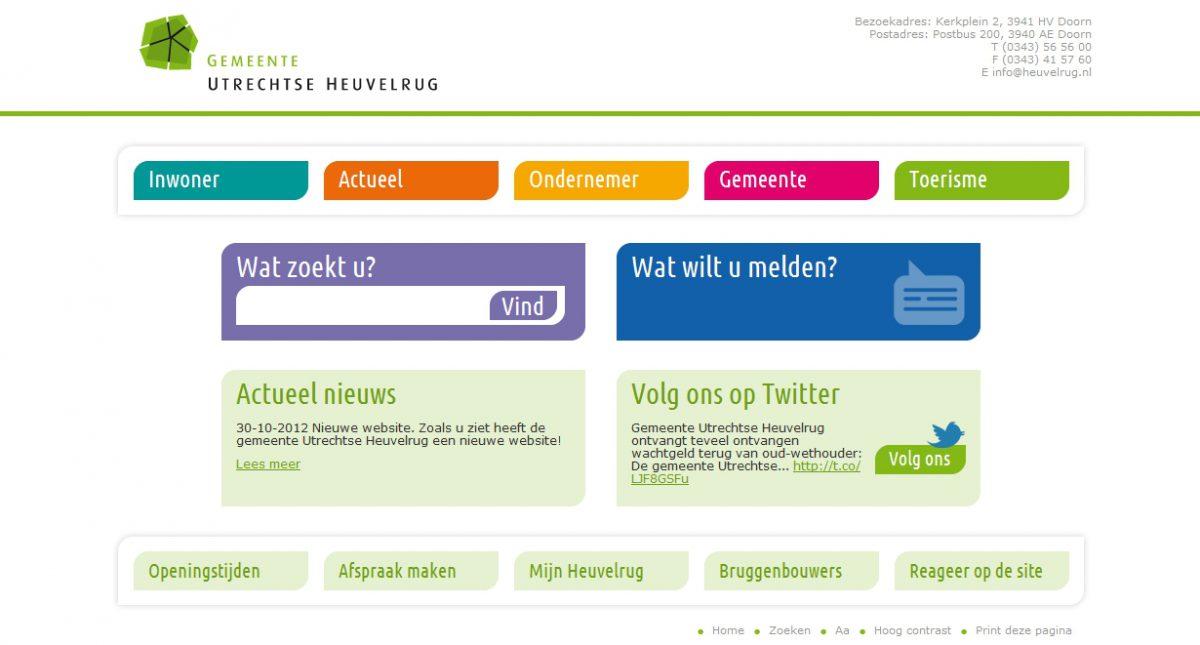 Nieuwe website Heuvelrug online