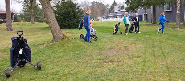 Gemeente klem met golfbaan