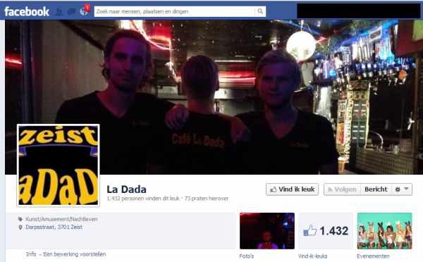 Zeist sluit La Dada