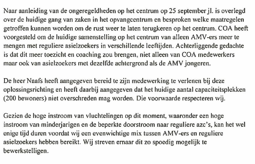COA wil mannen tussen de jongens in AZC-Overberg